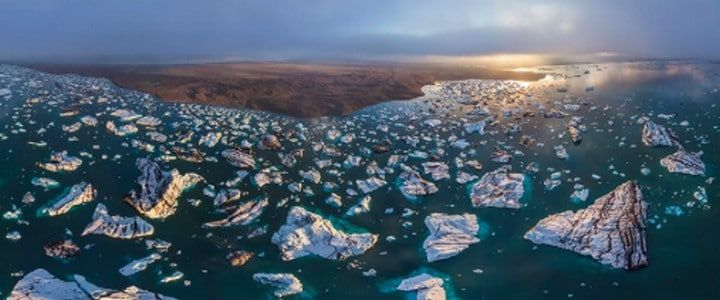 Le Lac proglaciaire Jokulsarlon Islande