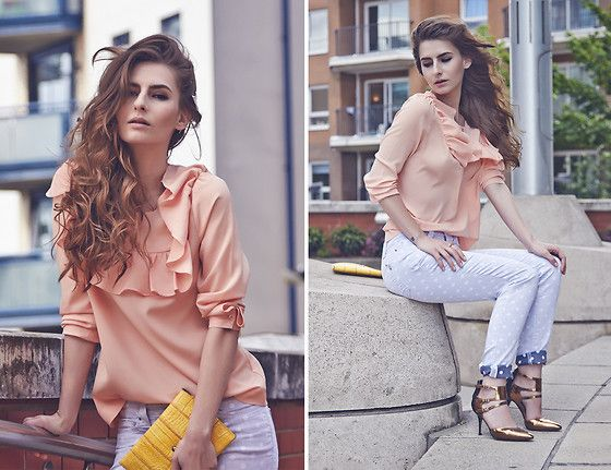 Denisia  A. - S.O.S By Orza Studio Jeans, Reiss Pumps, H&M Blouse - All Things Pretty