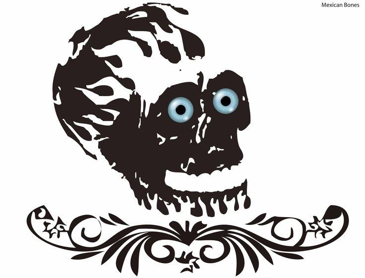 """Esqueleto Ilustrado para estampado""."