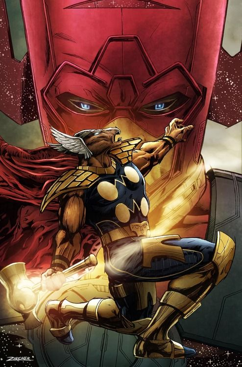 Galactus & Beta Ray Bill by Patrick Zircher