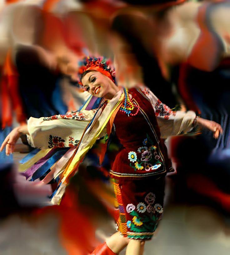 V Ukrainian Dancer Happy Dancing The