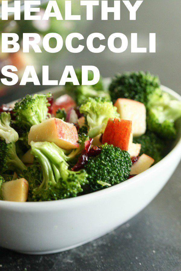Healthy Broccoli Salad No Mayo Recipe Healthy Broccoli Salad Broccoli Salad Broccoli Salad Recipe