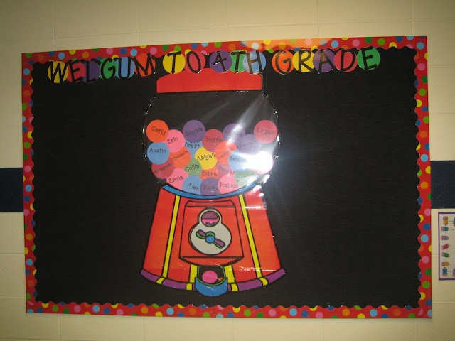 Good teaching blog.: Schools Bulletin Boards, Back To Schools, Wel Gum, Welgum, Teacher Tips, Bubbles Gum, Gumball Machine, Boards Ideas, Classroom Ideas