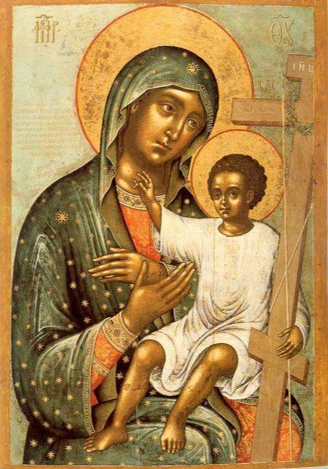 """Ícone da Mãe de Deus """"NOVONIKITSKAYA"""""""