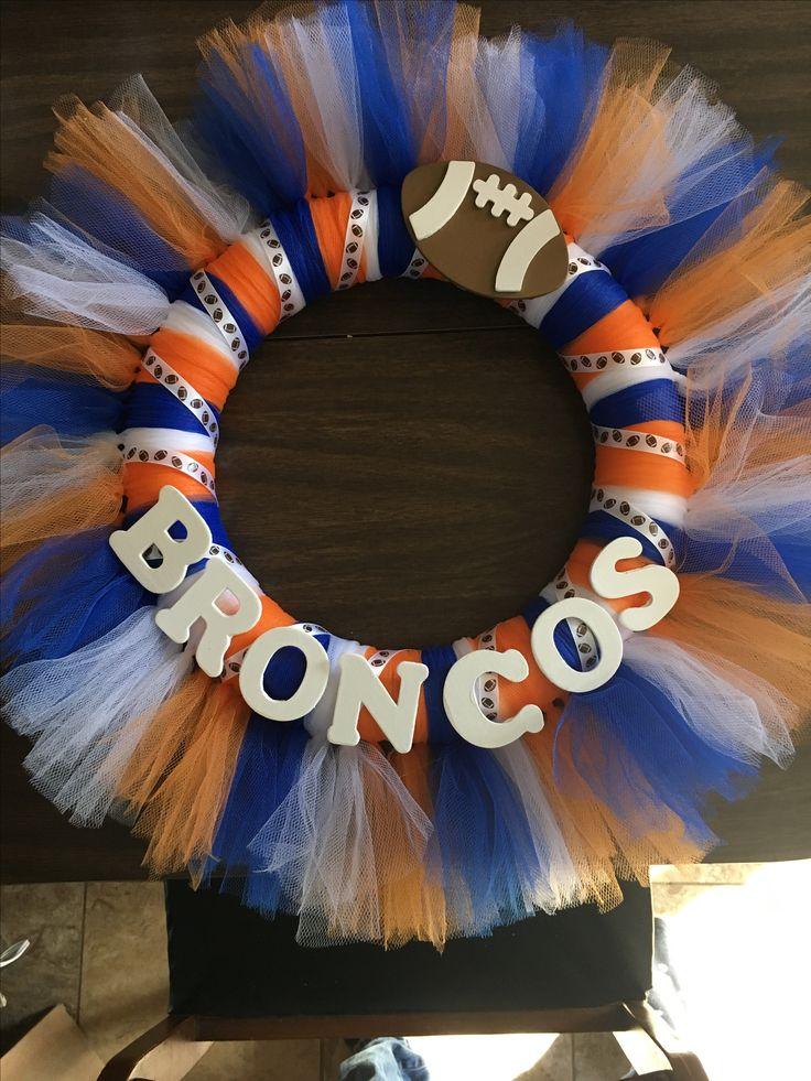 Denver broncos wreath
