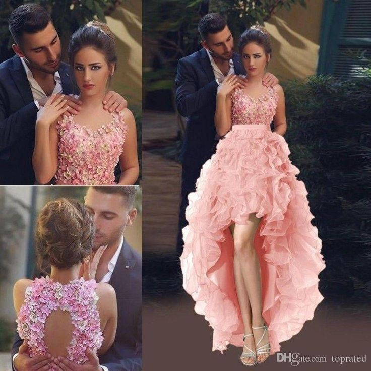 High Low Ball Gown Prom Dresses 2017 Backless Crew Neck Colorful Flowers Ruffles Organza 8th Grade Homecoming Party Queen Dress For Cocktail Camouflage Prom Dresses Cheap Black Prom Dresses From Toprated, $110.01| Dhgate.Com