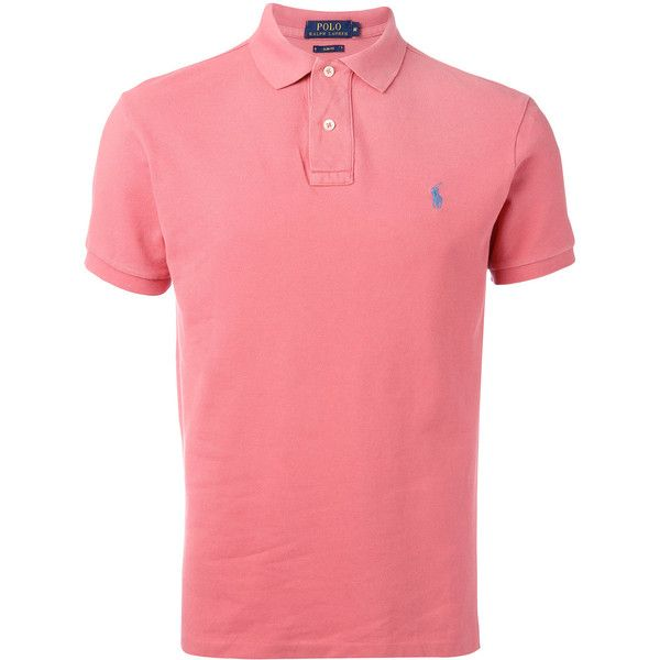 Polo Ralph Lauren classic polo shirt ($85) ❤ liked on Polyvore featuring men's fashion, men's clothing, men's shirts, men's polos, pink, mens pink shirts, mens cotton shirts, mens pink polo shirt, polo ralph lauren mens shirts and mens polo shirts