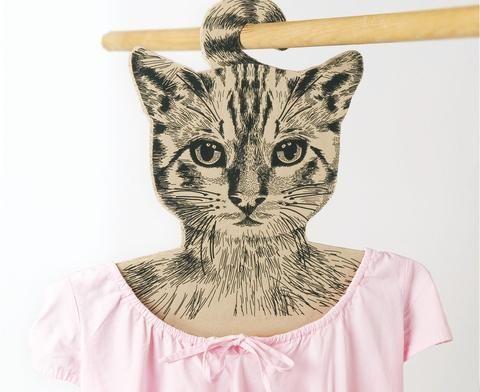Cintre à tête de chat - Hariet et Rosie