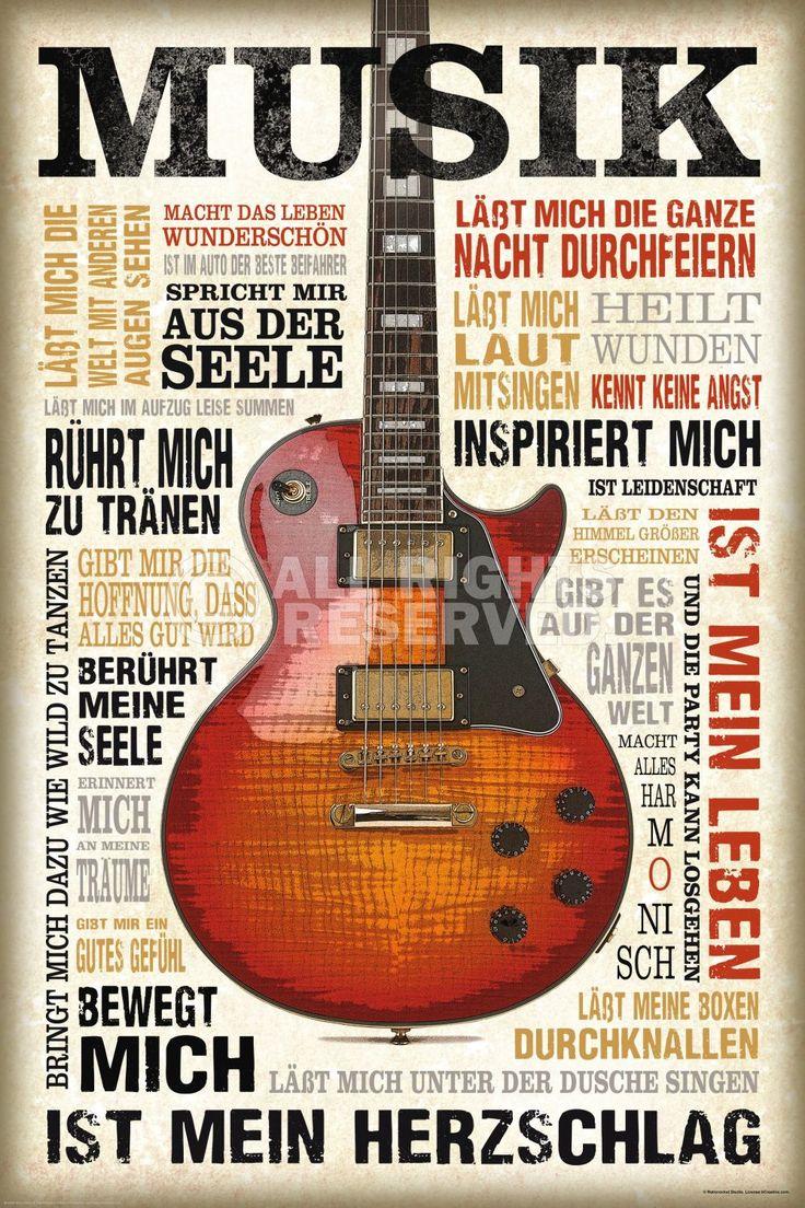 Poster: Musik ist Leidenschaft zum Verkauf online. Bestellen Sie Ihre Poster, Ihre 3D Film-Poster oder ähnliches interessantes Maxi Poster