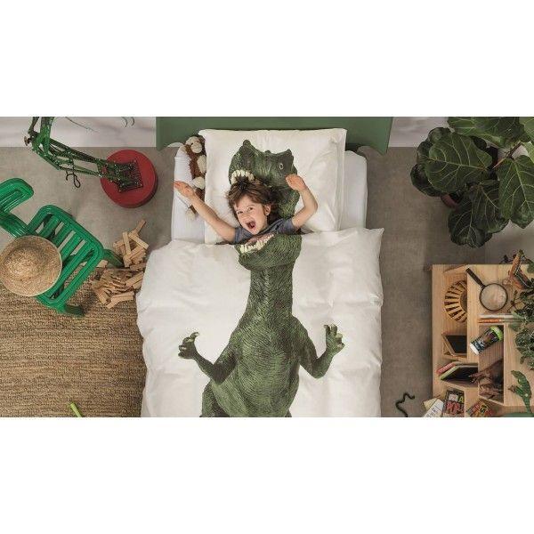 Copripiumino dinosauro (140x200/220 cm) Snurk #copripiumini #camerettabambini #kidsroomdesign #kidsroom #snurk #camerettadipippi