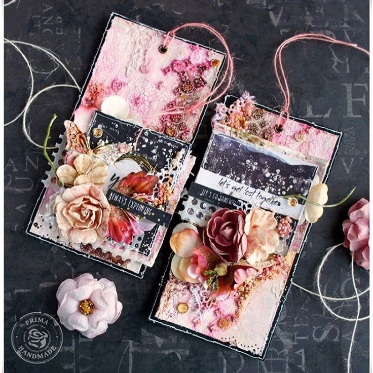 """""""The Wild & Free collection is really versatile. I made these tags, and these are totally different from the layout I made using the same collection! I used lots of mixed-media products on these two tags. I love adding art stones and mini art stones to my work. They really add a lot of texture and detail!"""" ~ Jaya Raghuvanshi  #new #winter2017 #wildandfree #frankgarcia #primaflowers #primamarketing #primamarketinginc @frankgarciadesigns @jaya_raghuvanshi"""