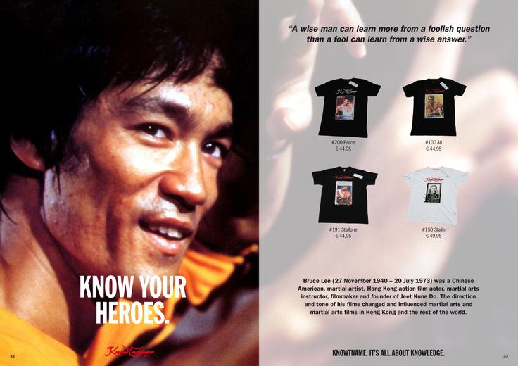 Bruce Lee an Icon and heroe for many, Knowtname of Bruce Lee by Knowtname!