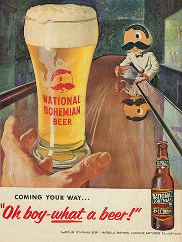 vintage beer ad, national bohemian beer