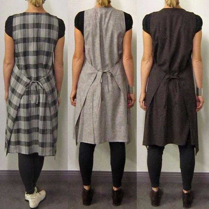 Apron wrap dress...just drawing up patterns