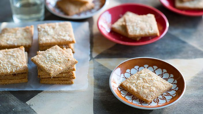 Anneka Manning's gluten-free Parmesan #crackers pack a punch in the flavour stakes. Serve with a soft cheese, like goat's curd or ricotta. Check out our Bakeproof column for tips and recipes.