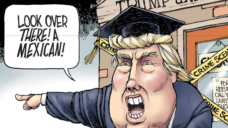 Donald Trump's CNN shills defend his bigotry against the Latino judge in the lawsuit against Trump University.