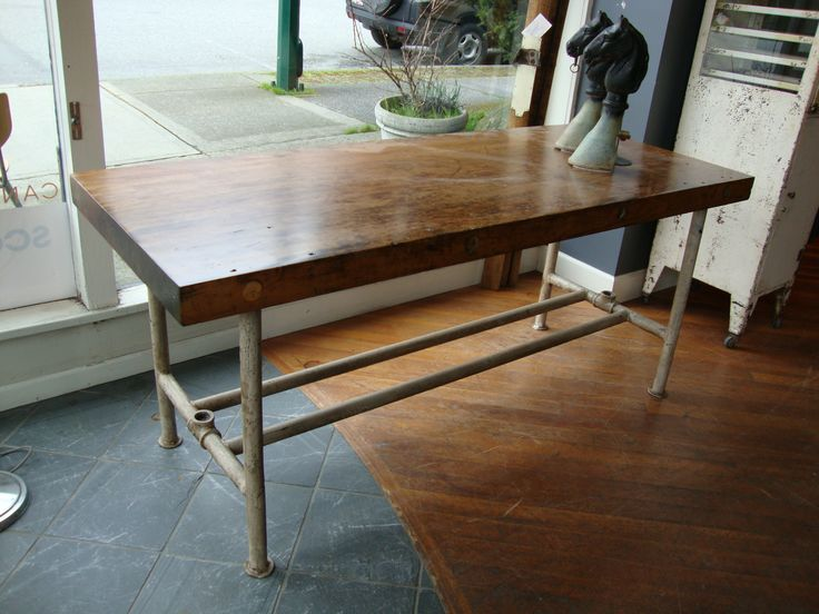Kitchen Island With Pipe Legs Scott Landon Antiques