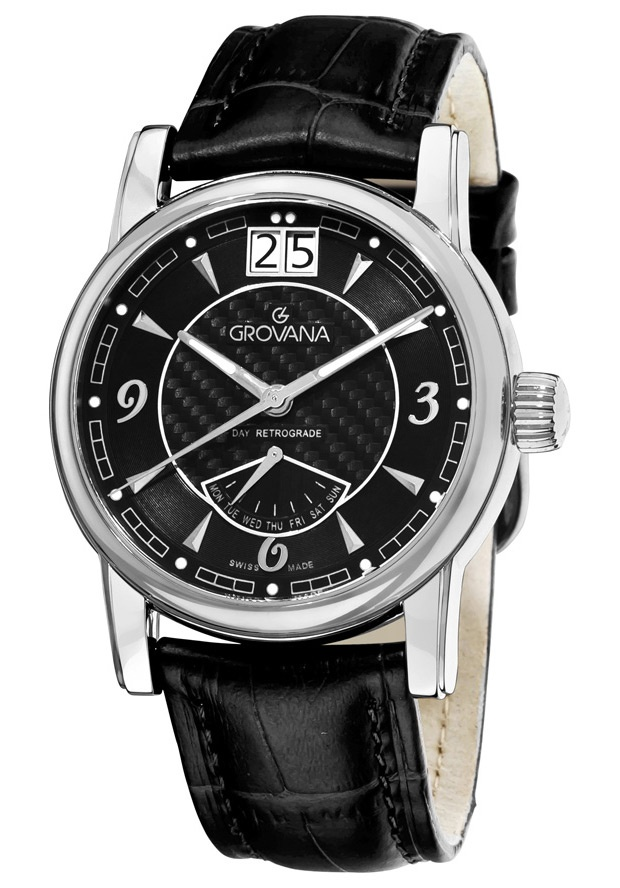 Price:$414.77 #watches Grovana 1721.1537, Grovana is a firm that has made a name for itself in the Swiss watch making industry through innovation and flexibility. Up to the 1970s it made mechanical watches that were always state of the art.