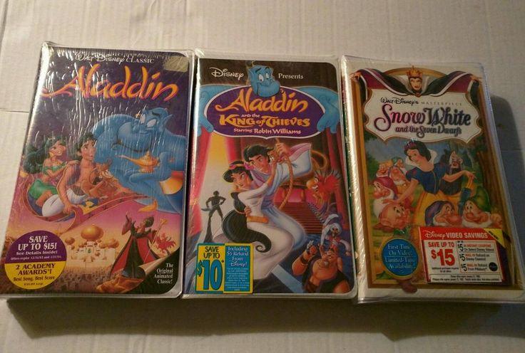 3 NEW, SEALED DISNEY VHS TAPES