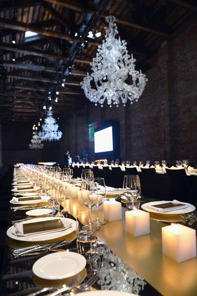 Dramatic black, white and gold with the romantic lighting against the old harsher roof #Event #Corporate
