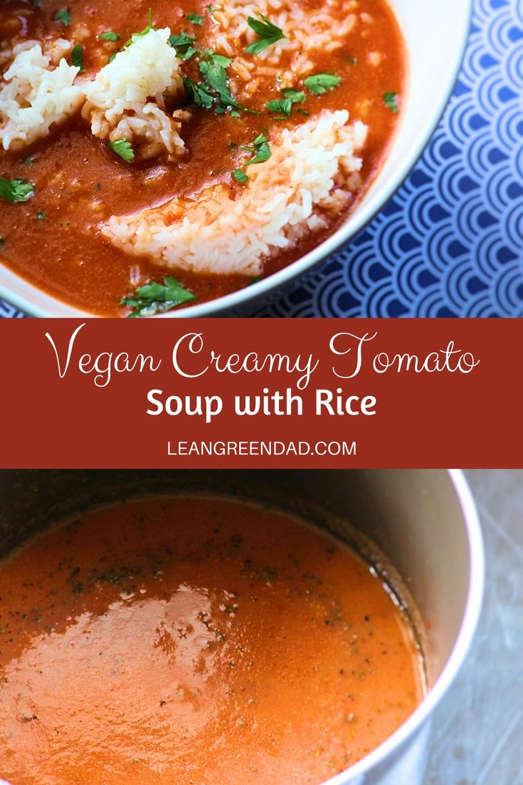 Vegan tomato soup at it's best. This creamy vegan tomato soup recipe is exactly what you have been looking for. Satisfying and perfect with a grilled cheese or by itself. A great addition to your plant-based family. #leangreendadd #plantbased #veganrecipe