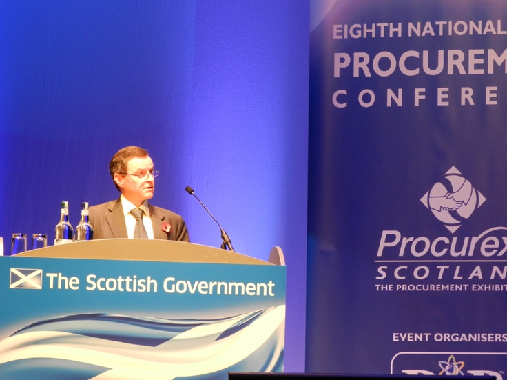 Scottish Government Director of Procurement and Commercial Alastair Merrill addresses the audience.