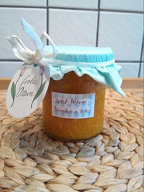 Apfel-Karotten Marmelade mit Kokos