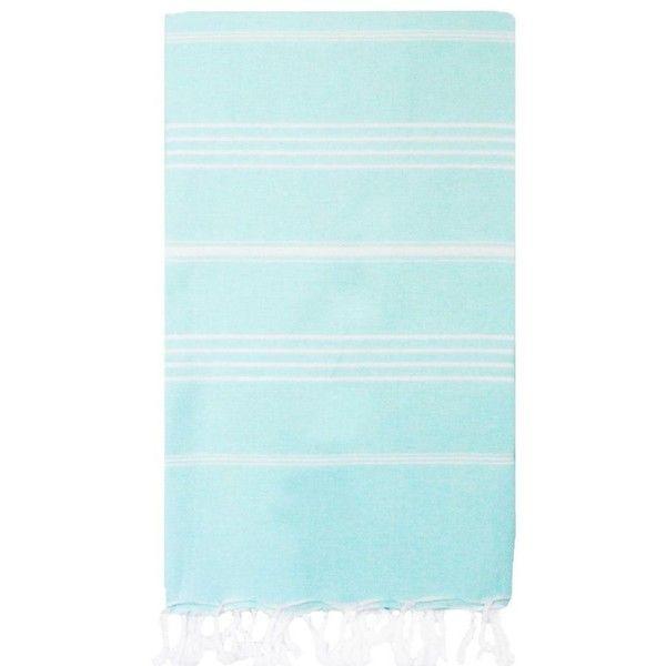 Turkish T Basic Bath Towel In Sky Blue By ($29) ❤ liked on Polyvore featuring home, bed & bath, bath, bath towels, bath towels & washcloths and lightweight bath towels