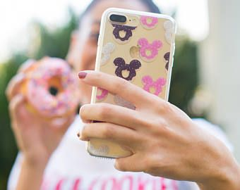 Mickey Donuts | Mickey Mouse | Disney Phone Case | Donuts Phone Case - Galaxy S8, iphone X, iphone 7, iphone 7 plus, transparent