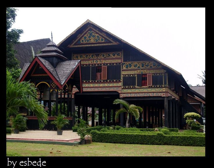 Acehnese traditional house - Indonesia  Rumah adat Aceh
