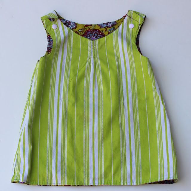 Tuto petite robe reversible