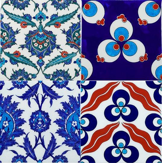 turkish iznik tiles, especially love the top right corner