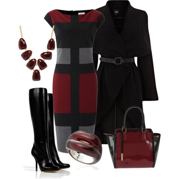 A fashion look from September 2012 featuring Linea dresses, Oasis coats and Givenchy boots. Browse and shop related looks.