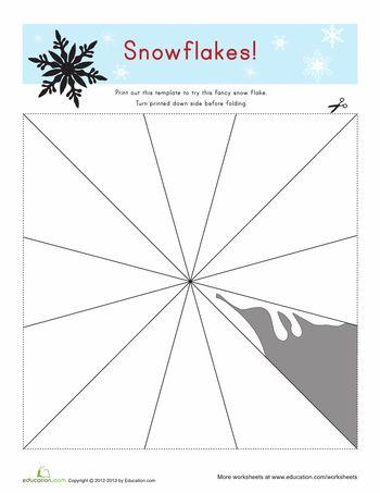Printable: Snowflake Templates #winter