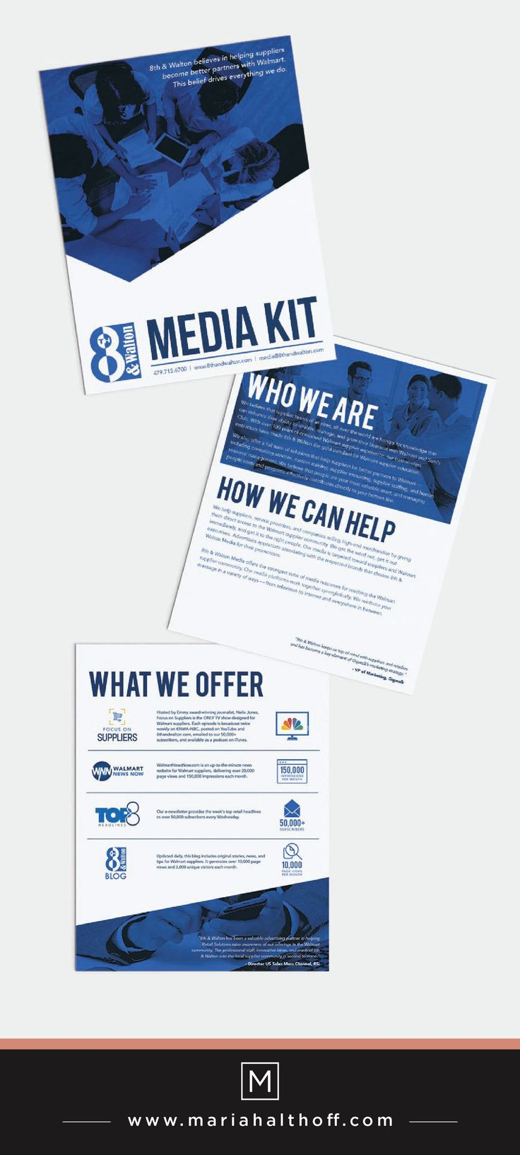 Media kit layout and design graphic design design for Press kit design