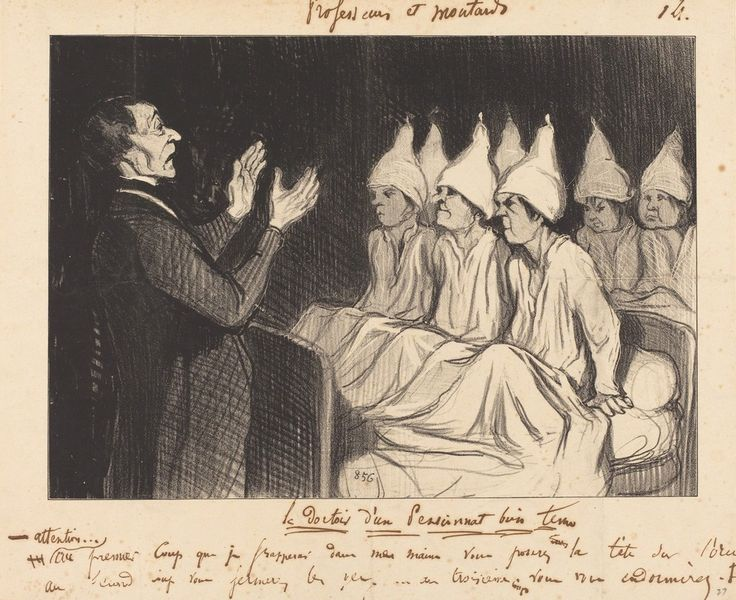 Le Dortoir d'un pensionnat bien tenu | Honoré Daumier, Le Dortoir d'un pensionnat bien tenu (1846)