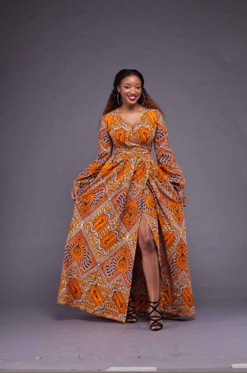 Meyong Dress | Zuvaa ~African fashion, Ankara, kitenge, African women dresses, African prints, African men's fashion, Nigerian style, Ghanaian fashion ~DKK