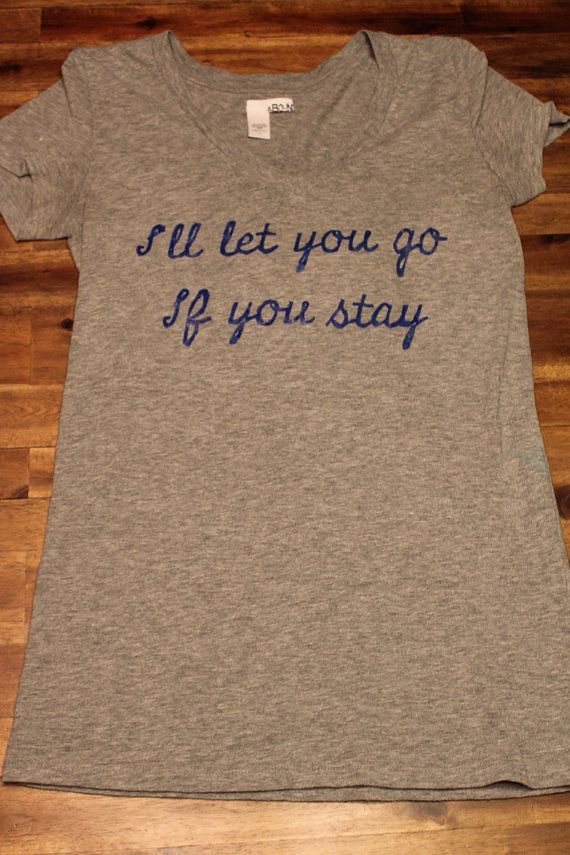 "Shirt with Quote from ""If I Stay"" by Gayle Forman on Etsy, $22.50"