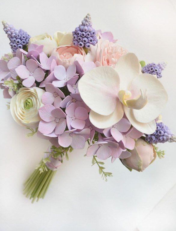 """Купить Букет невесты """"Версаль"""" с цветами из полимерной глины - букет, букет цветов, букет невесты"""