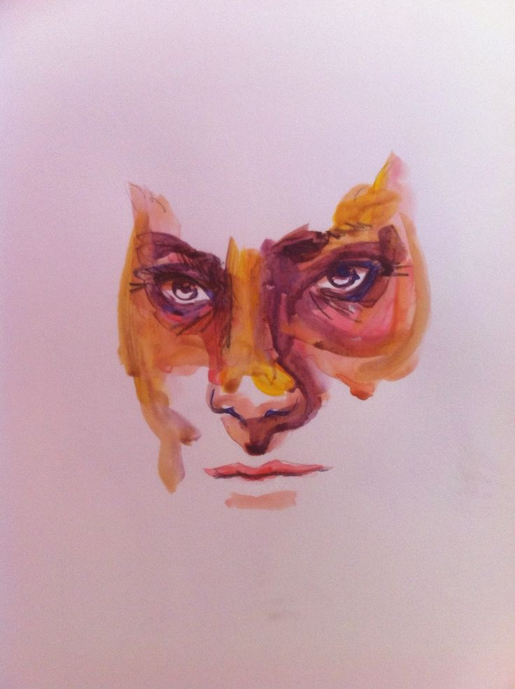 Gufo - Owl  Acrilic on paper 48x33 cm