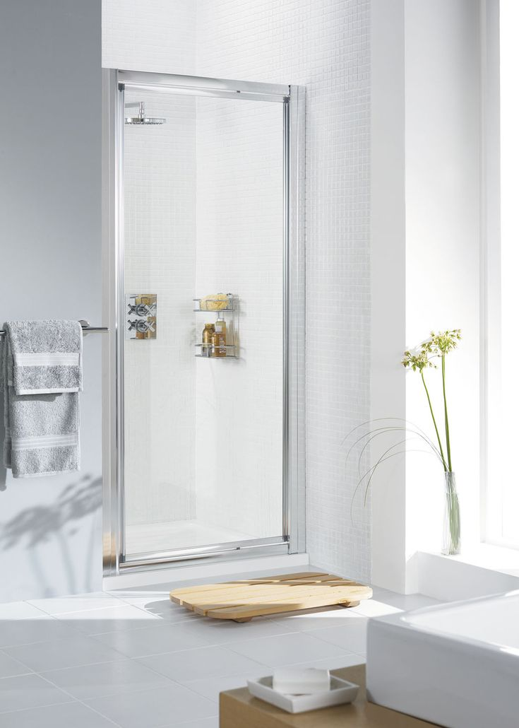 Framed Pivot Shower Door   Lakes Bathrooms