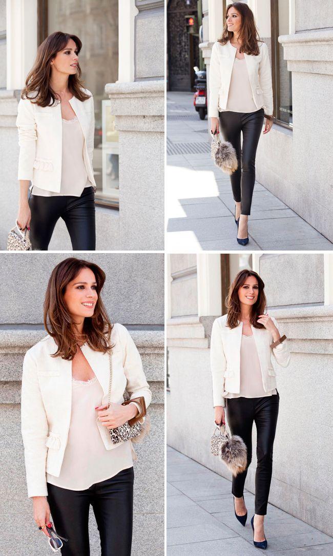 Look en blanco y negro (o crema y negro) para mi post de hoy