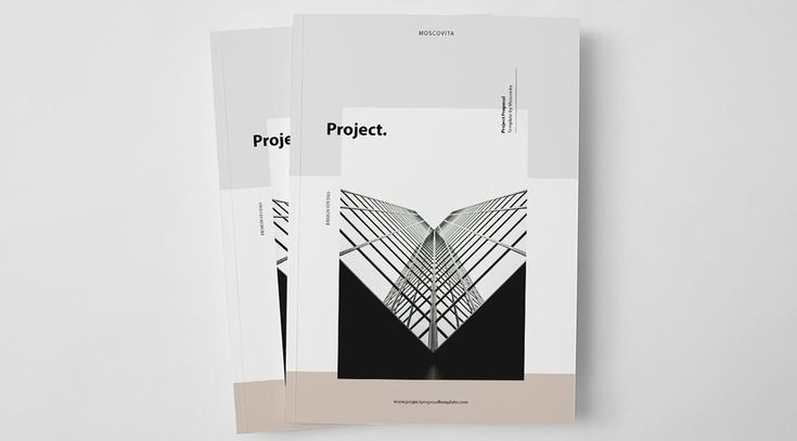 Another fine example of a well designed Adobe InDesign template: The project proposal brochure from Moscovita. This modern brochure template has been desig