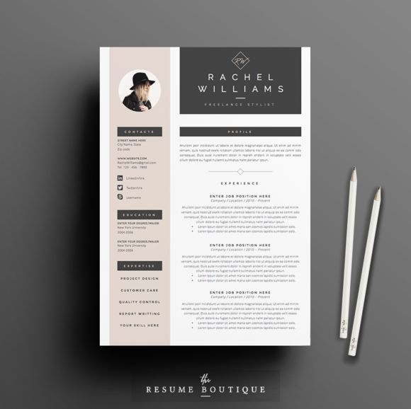 Resume Template 3page   Sultry by The.Resume.Boutique on @creativemarket
