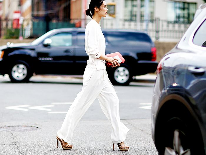 All white ....9 Easy Ways to Make Your Outfit Look More Expensive this Spring via @WhoWhatWear