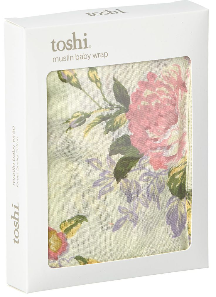 Toshi - Muslin Wrap Floral Mint
