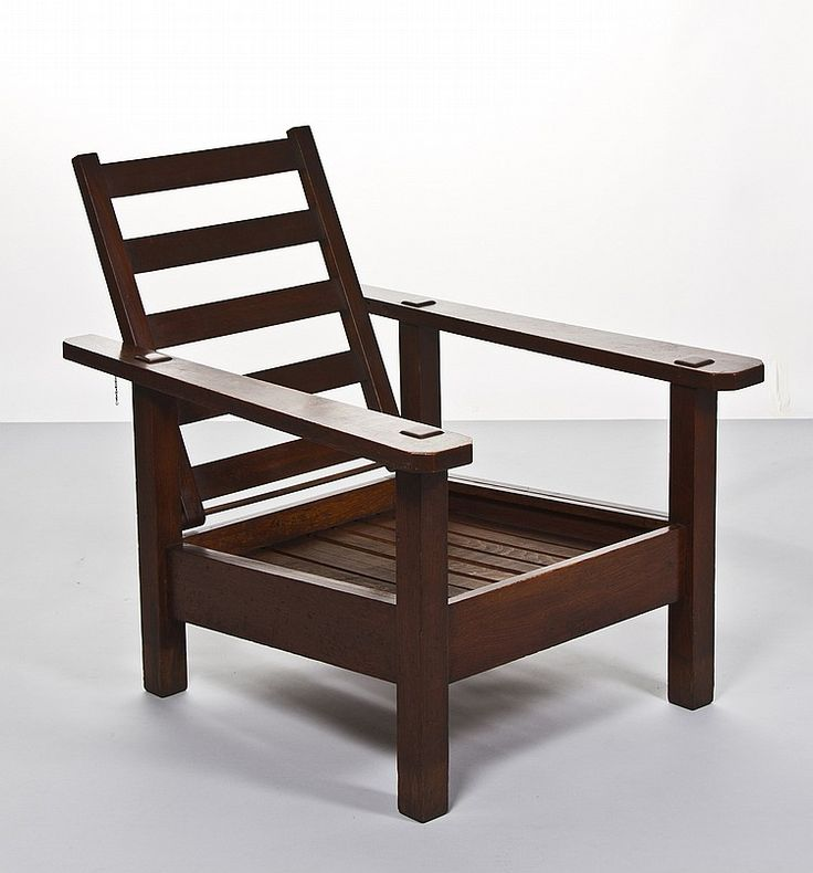 Buy Online, View Images And See Past Prices For Stickley Brothers Paddle  Arm Oak Morris Chair.