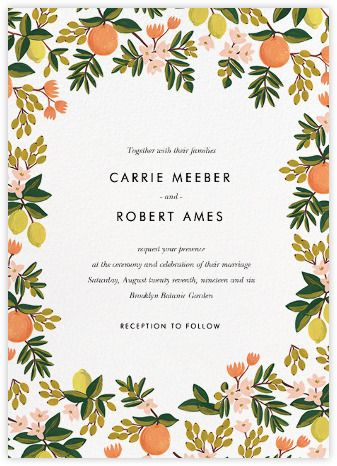 Citrus Orchard Suite (Invitation) - Paperless Post
