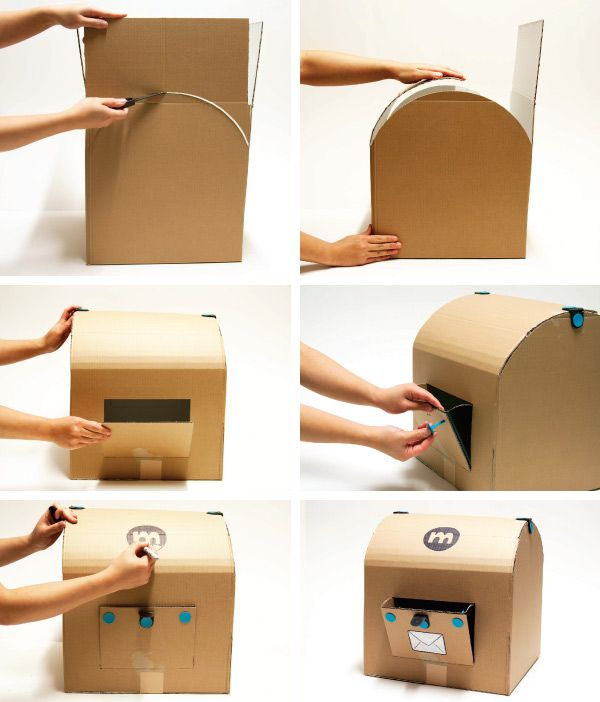 MAKEDO - find - create - play - share - inspire - HOW TO MAKE: A MAIL BOX **treasure chest, perfect size!!**