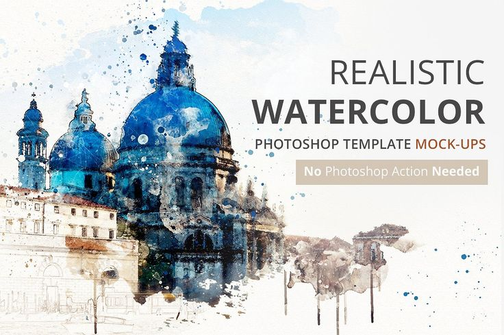 Watercolor Photoshop Mock-ups by SlideSalad on @creativemarket